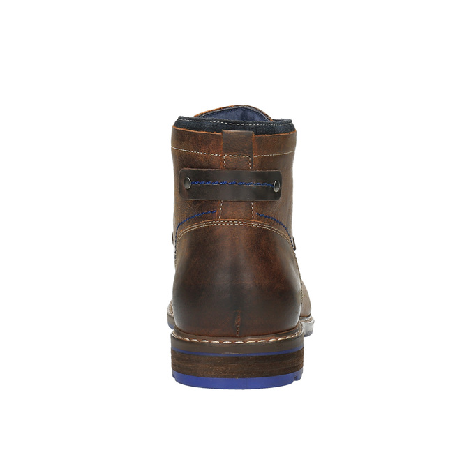 Kožená kotníčková obuv bata, hnědá, 896-4645 - 17