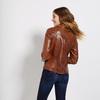 Dámská kožená bunda se zipy bata, hnědá, 974-3162 - 26