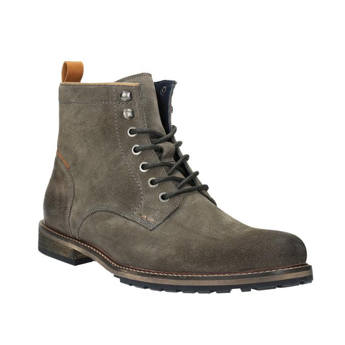 Pánská kotníčková obuv bata, šedá, 893-2651 - 13