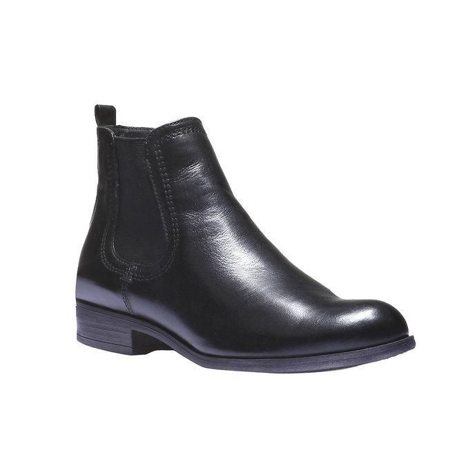 Kožené dámské Chelsea bata, černá, 594-6110 - 13