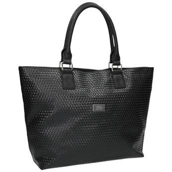 Dámská kabelka s propleteným vzorem bata, černá, 961-6651 - 13