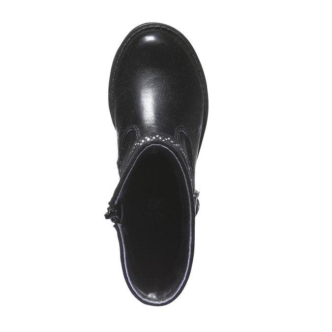 Kozačky se zdobením mini-b, černá, 291-6126 - 19