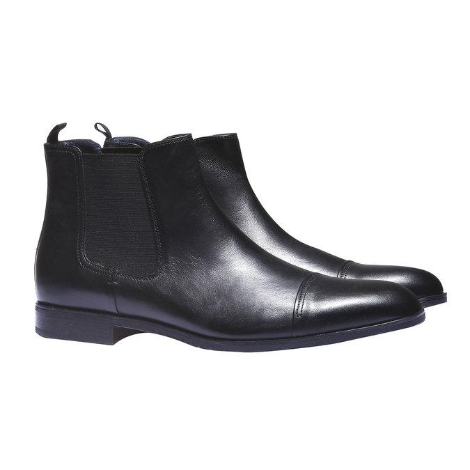 Kožené boty Chelsea bata, černá, 894-6214 - 26