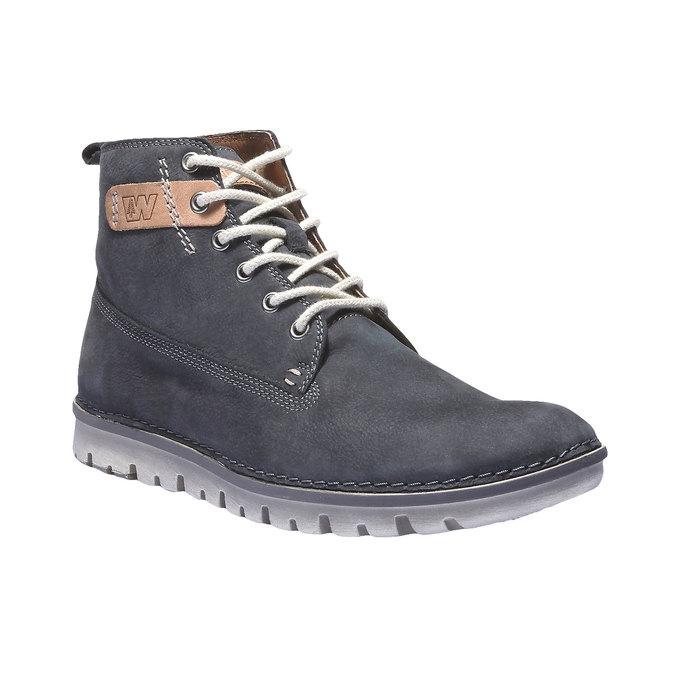 Kožená obuv na šněrování weinbrenner, fialová, 896-9340 - 13