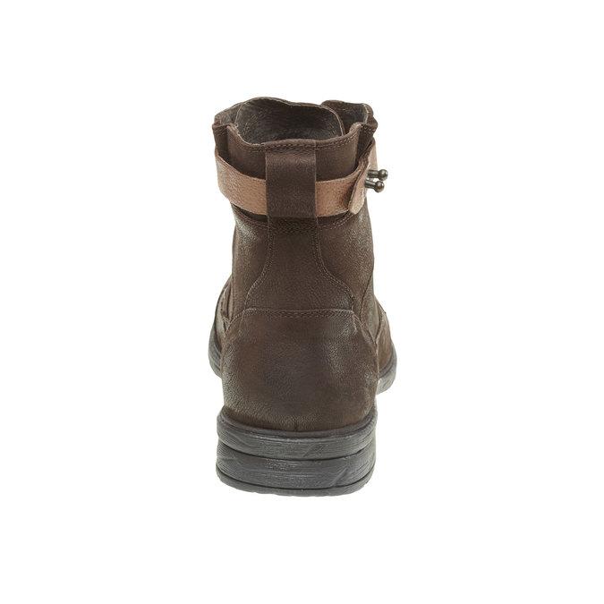 Kožené kotníkové boty bata, hnědá, 894-4165 - 17