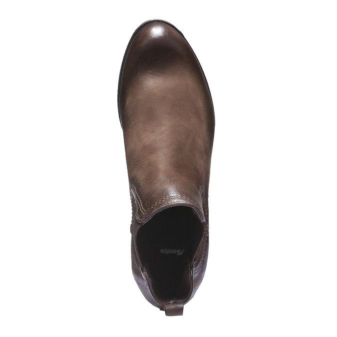 Dámské kožené Chelsea bata, hnědá, 594-4110 - 19