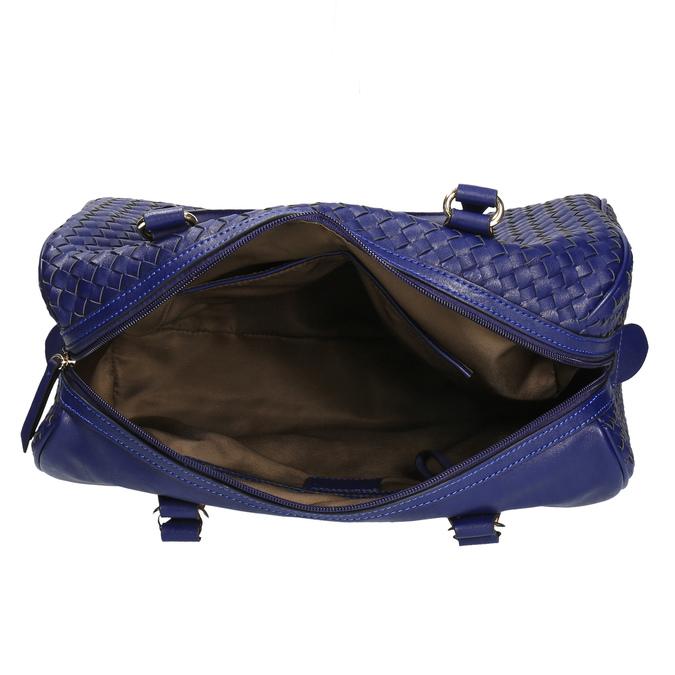 Bowling kabelka s propleteným vzorem bata, modrá, 961-9629 - 15
