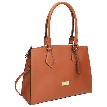 Hnědá elegantní kabelka s pevnými uchy bata, hnědá, 961-3646 - 13