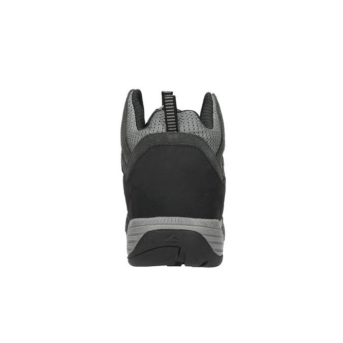 Kotníčková kožená obuv v Outdoor stylu power, černá, 803-6112 - 17