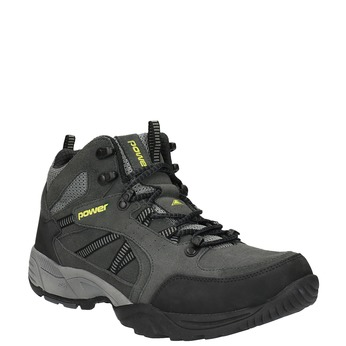 Kotníčková kožená obuv v Outdoor stylu power, černá, 803-6112 - 13