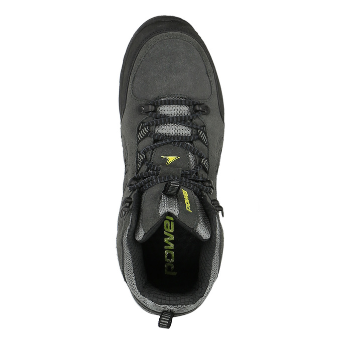 Kotníčková kožená obuv v Outdoor stylu power, černá, 803-6112 - 19