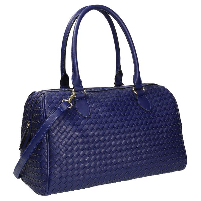Bowling kabelka s propleteným vzorem bata, modrá, 961-9629 - 13