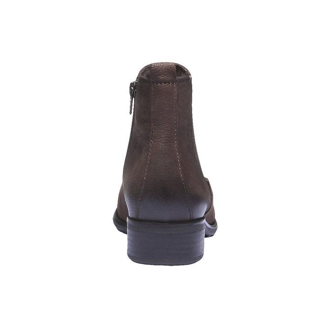 Kožená obuv v Chelsea střihu bata, hnědá, 596-4101 - 17