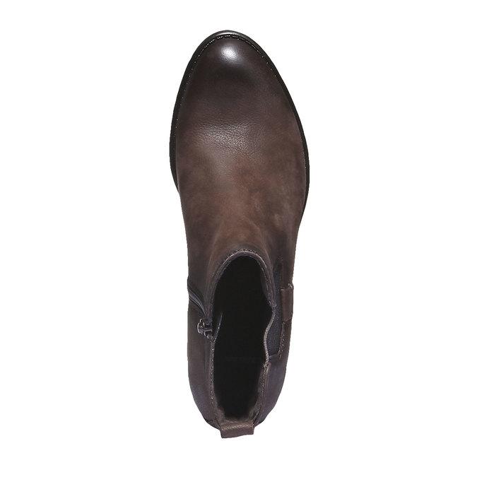 Kožená obuv v Chelsea střihu bata, hnědá, 596-4101 - 19