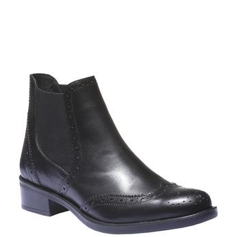 Kotníčková obuv v Chelsea střihu bata, černá, 594-6532 - 13