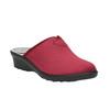 Dámská domácí obuv s plnou špicí bata, červená, 579-5602 - 13