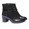 Kožená kotníčková obuv bata, černá, 794-6524 - 26