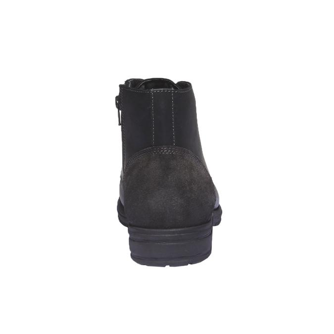 Ležérní kožená obuv bata, černá, 894-6555 - 17