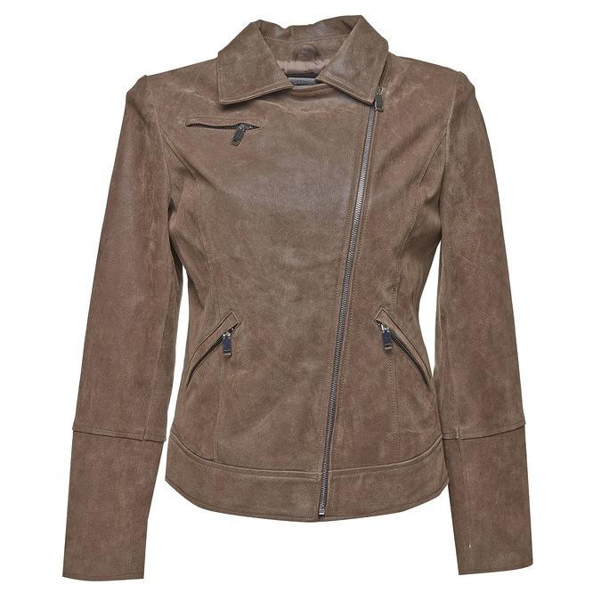 Dámská kožená bunda bata, hnědá, 973-4107 - 13