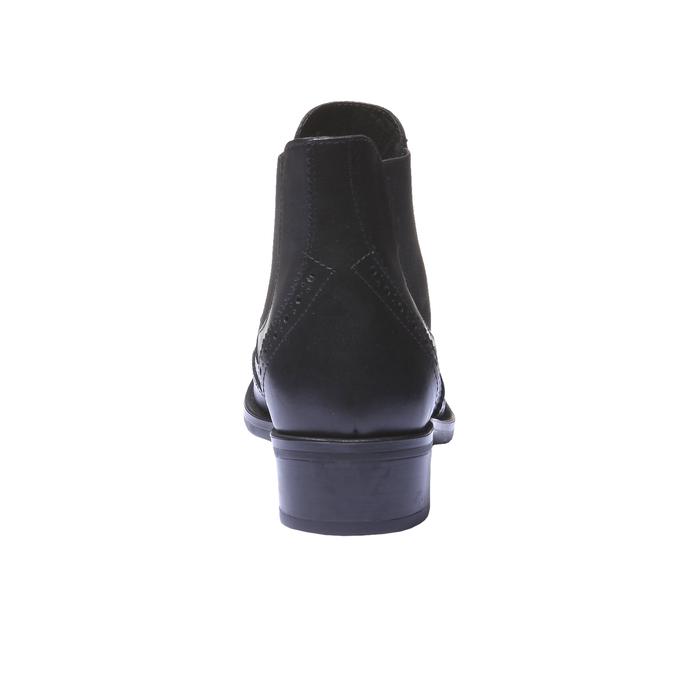 Kotníčková obuv v Chelsea střihu bata, černá, 594-6532 - 17