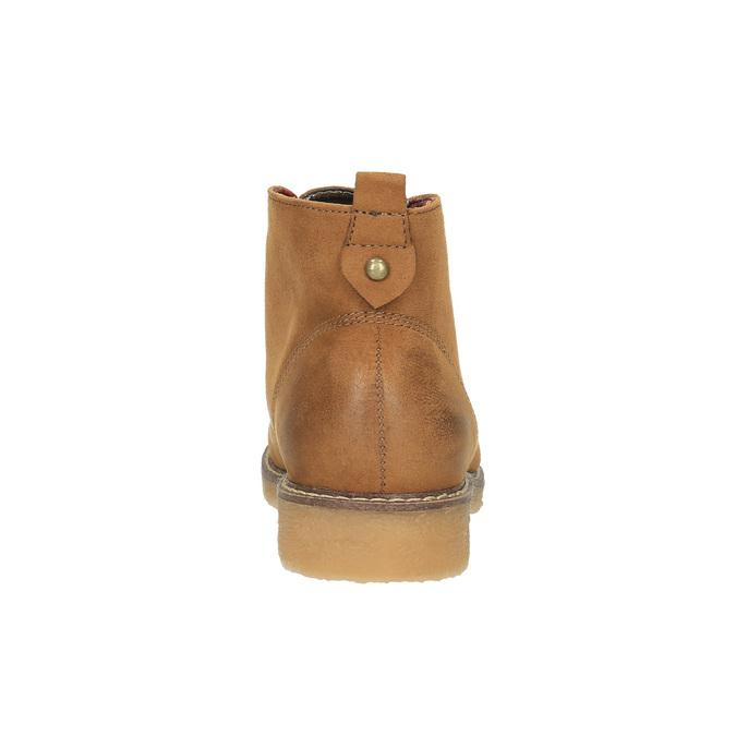 Dámská kotníčková obuv s barevnou podšívkou bata, hnědá, 599-4605 - 17