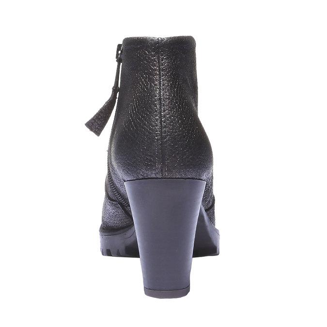 Kožené kotníčkové boty bata, šedá, 796-2107 - 17