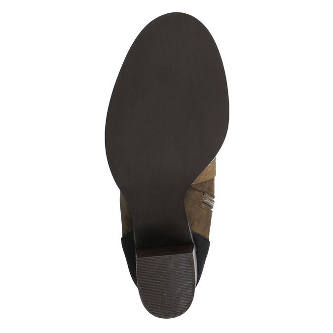 Kotníčková obuv na širokém podpatku bata, hnědá, 799-3612 - 26