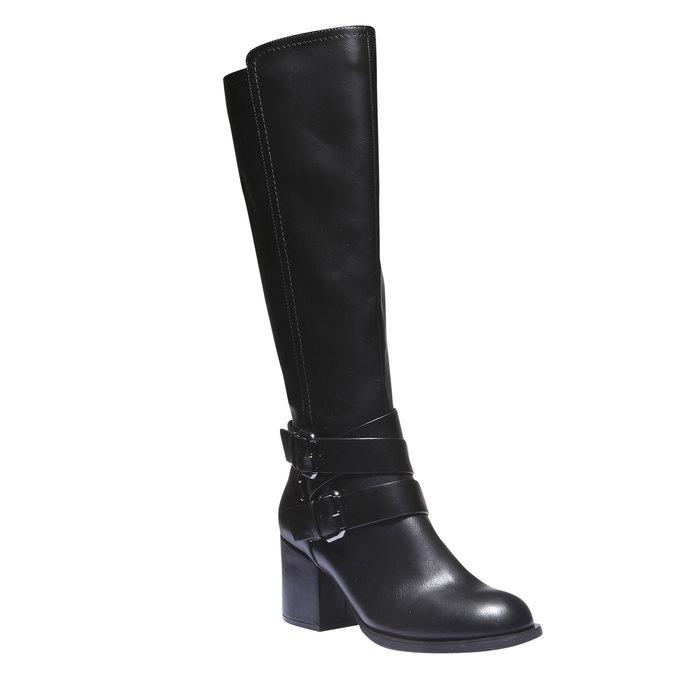 Kozačky s přezkami bata, černá, 791-6156 - 13