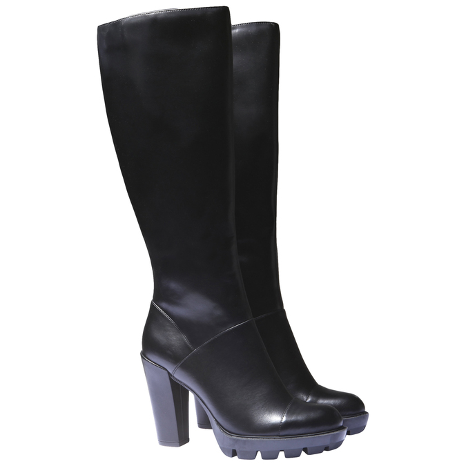 Kozačky na originální podešvi bata, černá, 791-6574 - 26