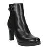 Kotníčková obuv s leopardím vzorem bata, černá, 796-6610 - 13