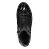 Kožené kotníčkové tenisky se zipy bata, černá, 546-6600 - 19