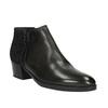 Kožená kotníčková obuv na nízkém podpatku bata, černá, 696-6613 - 13