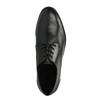 Pánské kožené polobotky s ležérní podešví bata, černá, 824-6728 - 19