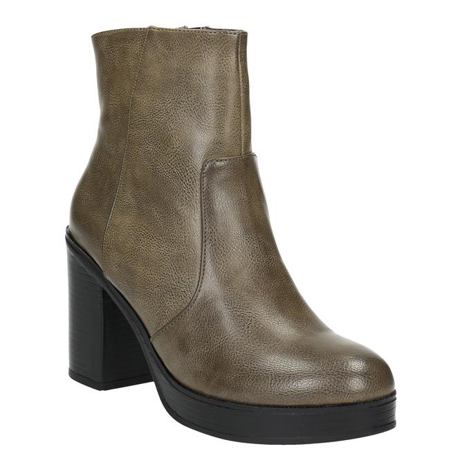 Kotníčková obuv na širokém podpatku bata, hnědá, 791-3601 - 13