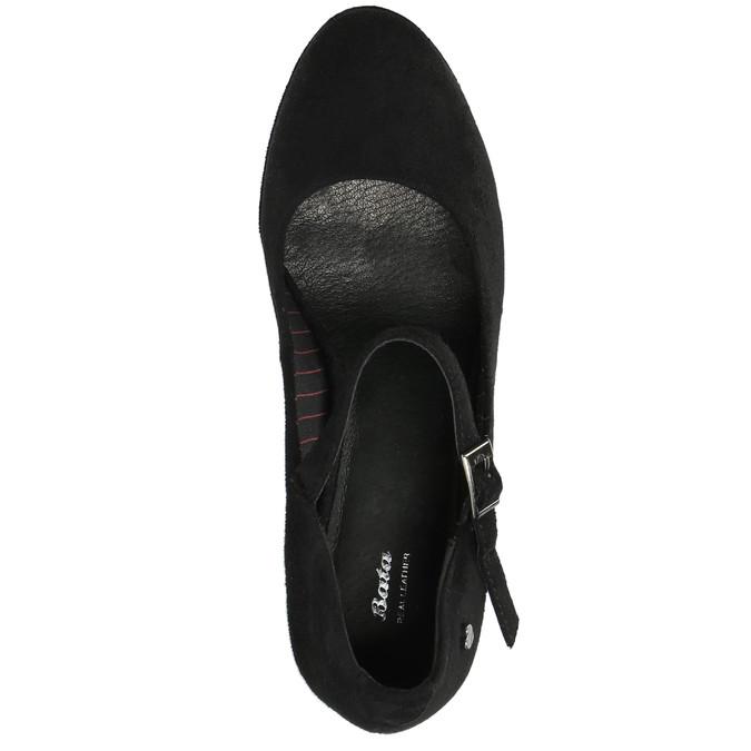 Černé lodičky s páskem přes nárt bata, černá, 729-6601 - 19