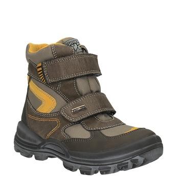 Dětská zimní obuv na suché zipy mini-b, hnědá, 499-3103 - 13