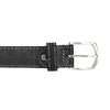 Kožený opasek s prošitím bata, černá, 954-6147 - 26