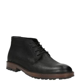 Kožená kotníčková obuv pánská bata, černá, 826-6642 - 13