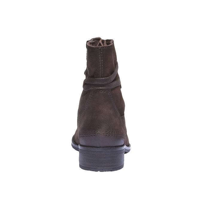 Dámská kožená šněrovací obuv bata, 596-2100 - 17