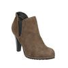 Kotníčkové kozačky na podpatku s pružnými boky bata, béžová, 799-2601 - 13