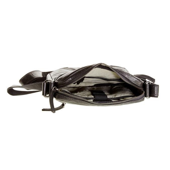Kožená  Crossbody taška bata, černá, 964-6180 - 15