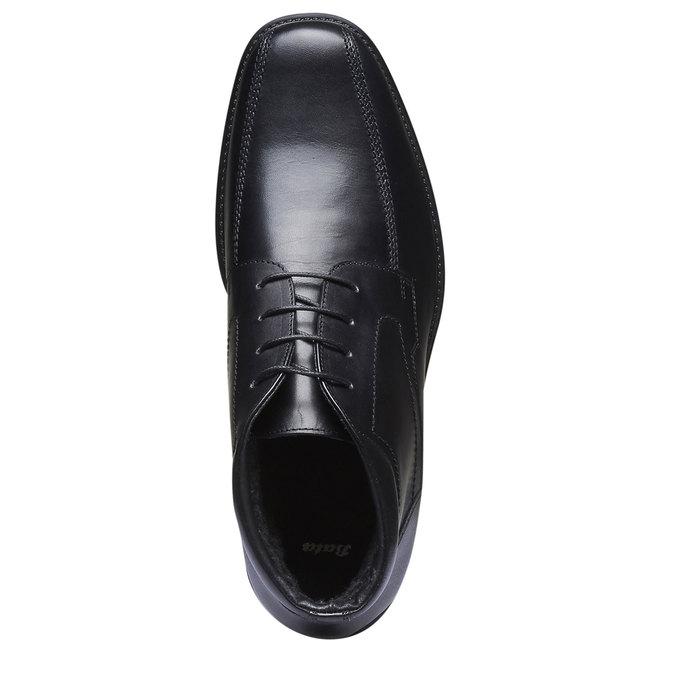 Kožená kotníčková obuv bata, černá, 894-6242 - 19