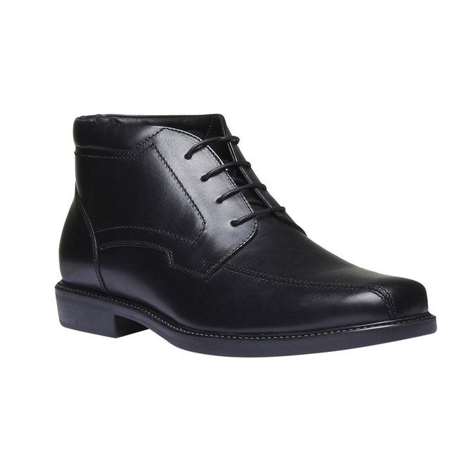 Kožená kotníčková obuv bata, černá, 894-6242 - 13