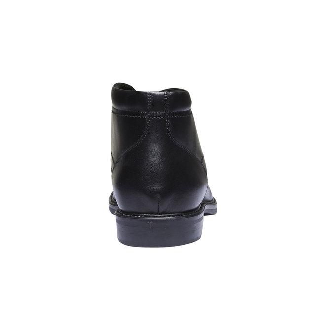 Kožená kotníčková obuv bata, černá, 894-6242 - 17