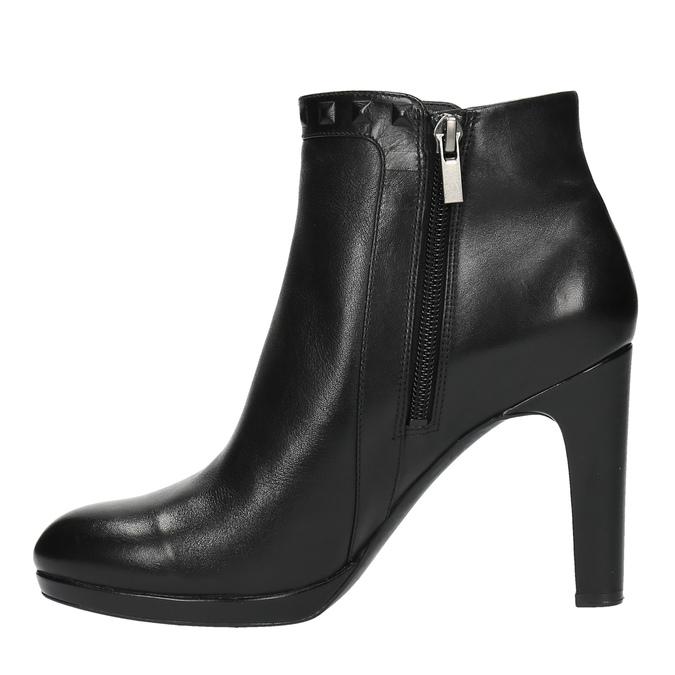 Kožená kotníčková obuv na podpatku rockport, černá, 714-6106 - 26