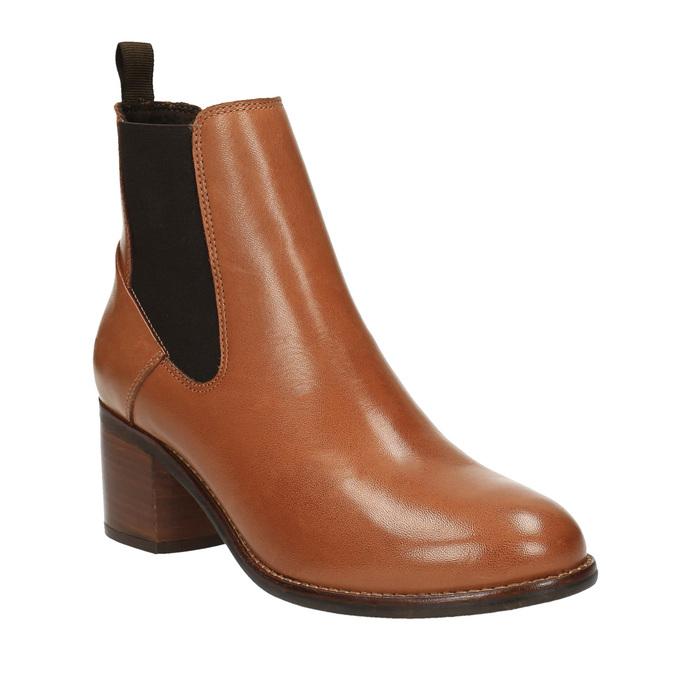 Kožené Chelsea Boots ten-points, hnědá, 716-3003 - 13