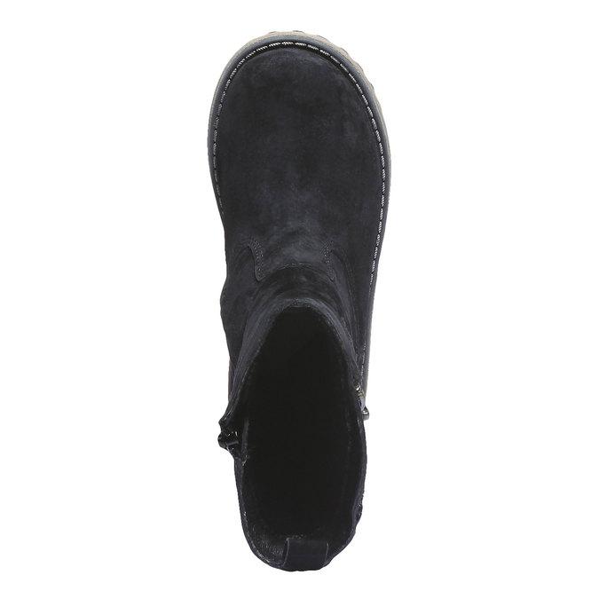 Kožené kozačky se zipem gabor-kids, černá, 396-6047 - 19