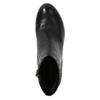 Kožená kotníčková obuv na podpatku rockport, černá, 714-6106 - 19