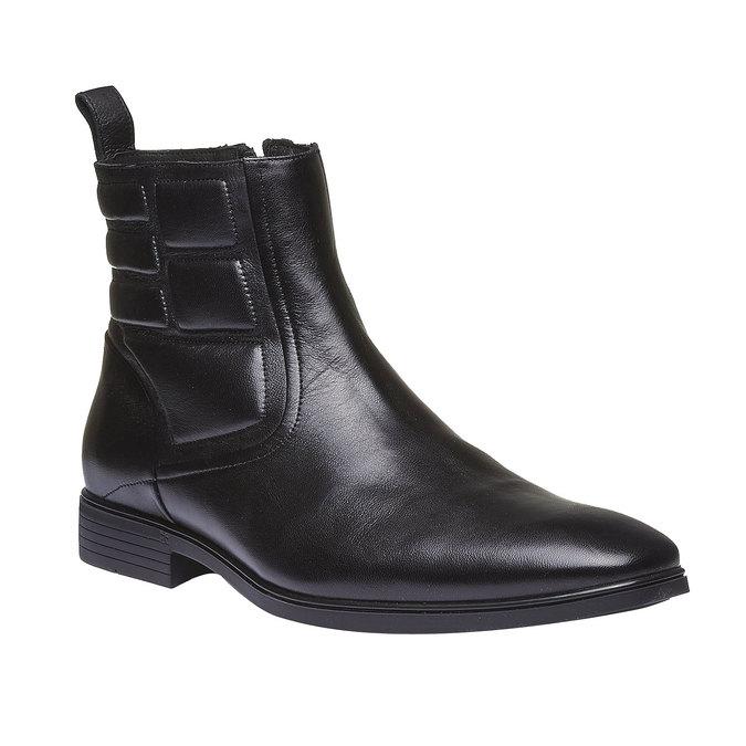 Kožená kotníčková obuv conhpol, černá, 894-6105 - 13