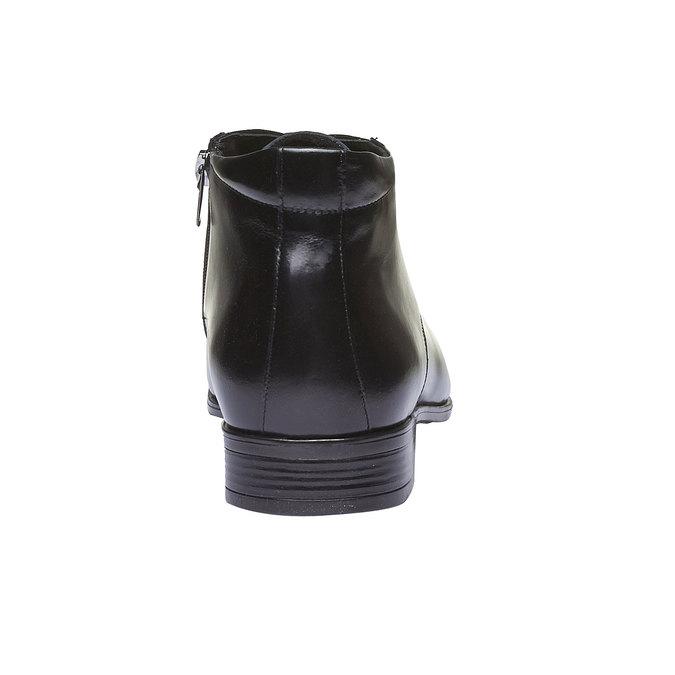 Kožená kotníčková obuv conhpol, černá, 894-6103 - 17